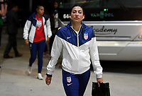 JACKSONVILLE, FL - NOVEMBER 10: Christen Press #23 of the United States inters the stadium during a game between Costa Rica and USWNT at TIAA Bank Field on November 10, 2019 in Jacksonville, Florida.