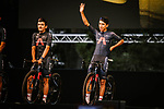 Defending Champion Egan Bernal (COL) Team Ineos Grenadiers on stage at the team presentation before the Tour de France 2020, Nice, France. 27th August 2020.<br /> Picture: ASO/Pauline Ballet   Cyclefile<br /> All photos usage must carry mandatory copyright credit (© Cyclefile   ASO/Pauline Ballet)