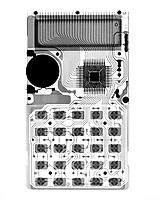 Pocket calculator.