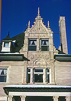 St. Louis: House, 5215 Lindell (West End), upper stories, detail. Photo '78.