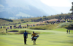 Pic Kenny Smith...... Tel 07809 450119.Johnnie Walker Championship, PGA Course Gleneagles, Day 2..Ross Fisher and his caddy walk down the 2nd fairway