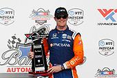 #9: Scott Dixon, Chip Ganassi Racing Honda, podium