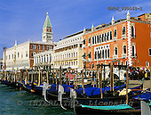 Tom Mackie, LANDSCAPES, photos, Gondolas in Venice, Venice, Italy, GBTM990068-1,#L#