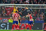 Atletico de Madrid's Jan Oblak and Liverpool's FC Virgil Van Dijk competes for the ball during UEFA Champions League match, round of 16 first leg between Atletico de  Madrid and Liverpool FC at Wanda Metropolitano Stadium in Madrid, Spain. February Tuesday 18, 2020.(ALTERPHOTOS/Manu R.B.)