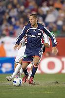 Clint Dempsey (NE Revolution, blue) dribbles. NE Revolution defeat Colorado Rapids, 3-1, at Gillette Stadium on Sept. 30, 2006.