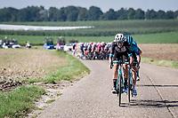 the breakaway trio forming, consisting of: Hugo Houle (CAN/Astana - Premier Tech), Casper Pedersen (DEN/DSM) & Jack Bauer (NZL/BikeExchange)<br /> <br /> 17th Benelux Tour 2021<br /> Stage 5 from Riemst to Bilzen (BEL/192km)<br /> <br /> ©kramon