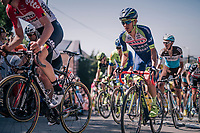 Guillaume Martin (FRA/Wanty-Groupe Gobert) up the Mur de Huy<br /> <br /> 82nd Flèche Wallonne 2018 (1.UWT)<br /> 1 Day Race: Seraing - Huy (198km)