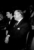 Jacques Parizeau attend the Parti Quebecois' Conseil National Extrordinaire at Montreal's convention centre, January 18 and 19, 1985.<br /> <br /> File Photo : Agence Quebec Presse - Pierre Roussel