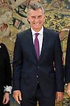 President of Argentinian Republic Mauricio Macri during meeting with president of Argentinian Republic, Sr. Mauricio Macri and Sra Juliana Awada at Real Palace in Madrid, Spain. February 19, 2017. (ALTERPHOTOS/BorjaB.Hojas)