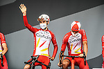 Guillaume Martin (FRA) Cofidis at sign on before the start of Stage 8 of the 2021 Tour de France, running 150.8km from Oyonnax to Le Grand-Bornand, France. 3rd July 2021.  <br /> Picture: A.S.O./Charly Lopez | Cyclefile<br /> <br /> All photos usage must carry mandatory copyright credit (© Cyclefile | A.S.O./Charly Lopez)