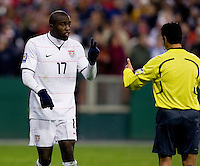 Jozy Altidore, Benito Archundia. The USMNT tied Costa Rica, 2-2, during the FIFA World Cup Qualifier at  RFK Stadium, in Washington, DC.   With the result, the USMNT qualified for the 2010 FIFA World Cup Finals in South Africa.