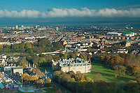 Holyrood Palace and Holyrood Park from Salisbury Crags, Edinburgh
