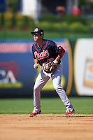 Peoria Chiefs second baseman Josh Swirchak (40) during the second game of a doubleheader against the South Bend Cubs on July 25, 2016 at Four Winds Field in South Bend, Indiana.  South Bend defeated Peoria 9-2.  (Mike Janes/Four Seam Images)