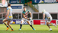 20th February 2021; Welford Road Stadium, Leicester, Midlands, England; Premiership Rugby, Leicester Tigers versus Wasps; Matias Moroni of Leicester Tigers passing the ball along the line