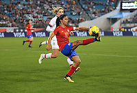 JACKSONVILLE, FL - NOVEMBER 10: Shirley Cruz #10 of Costa Rica traps a ball during a game between Costa Rica and USWNT at TIAA Bank Field on November 10, 2019 in Jacksonville, Florida.