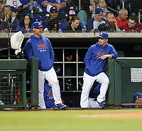 David Ross, manager (left) - Andy Green, bench coach (right) - Chicago Cubs 2020 spring training (Bill Mitchell)