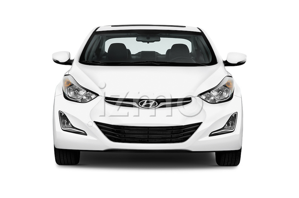 Car photography straight front view of a 2016 Hyundai Elantra Value Edition 4 Door Sedan Front View