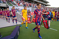 AUSTIN, TX - JUNE 16: Carli Lloyd #10 of the USWNT enters the field before a game between Nigeria and USWNT at Q2 Stadium on June 16, 2021 in Austin, Texas.
