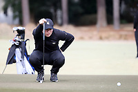 PINEHURST, NC - MARCH 02: Alex Fitzpatrick of Wake Forest University lines up a putt on the third hole at Pinehurst No. 2 on March 02, 2021 in Pinehurst, North Carolina.
