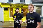 Luke Burgis right and Joey Boland in their new Coffee cafe Bean in Killarney which opened last week