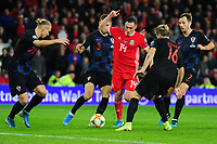 Connor Roberts of Wales in action during the UEFA Euro 2020 Qualifier between Wales and Croatia at the Cardiff City Stadium in Cardiff, Wales, UK. Sunday 13 October 2019