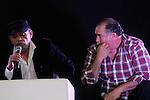 El Actor Mexicano Jesus el ¨Chobi¨Ochoa asistio a la feria del libro 2012 de Hermosillo para acompañar al Dramaturgo Sergio Galindo que fuera su maestro  de actuación..(Staff/NortePhoto)