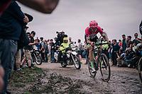Sep Vanmarcke (BEL/Education First-Drapac)<br /> <br /> 116th Paris-Roubaix (1.UWT)<br /> 1 Day Race. Compiègne - Roubaix (257km)