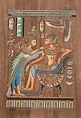 Interlitho, MODERN, Fantasy, paintings, couple, egyptian symbols, KL4347,#N# illustrations, pinturas