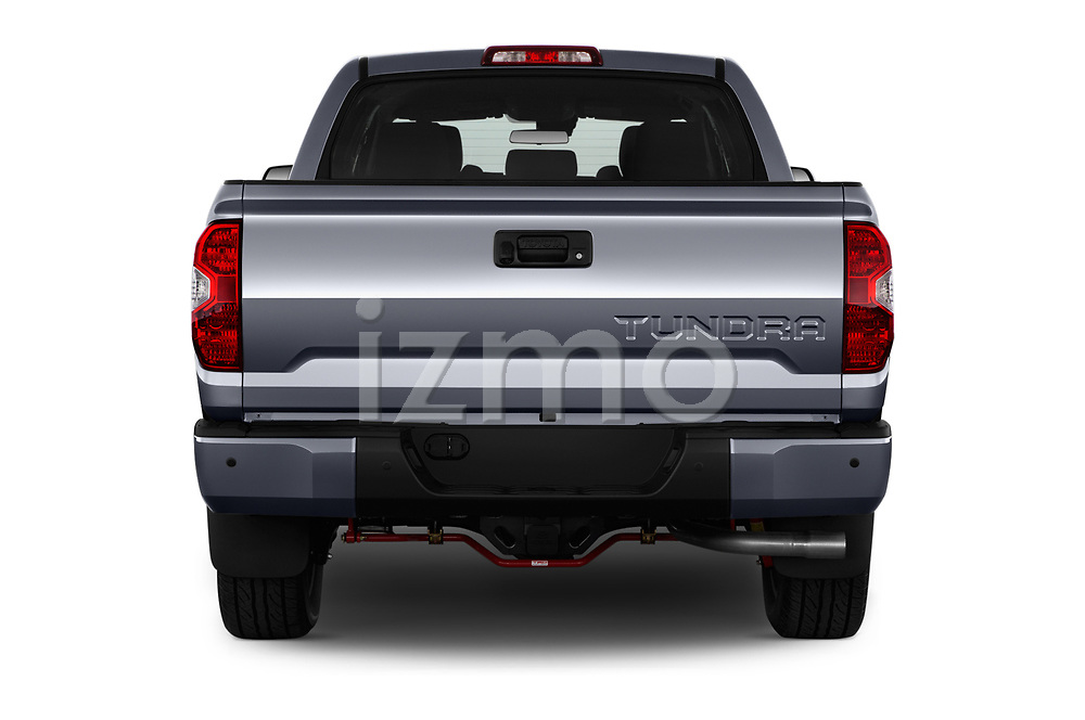 Straight rear view of a 2018 Toyota Tundra TRD Sport Crew 4 Door Pick Up stock images