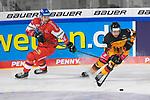 Eishockey: Deutschland – Tschechien am 01.05.2021 in der ARENA Nürnberger Versicherung in Nürnberg<br /> <br /> Tschechiens Ondrej Najman (Nr.46) gegen Deutschlands Tobias Eder (Nr.9)<br /> <br /> Foto © Duckwitz/osnapix/PIX-Sportfotos *** Foto ist honorarpflichtig! *** Auf Anfrage in hoeherer Qualitaet/Aufloesung. Belegexemplar erbeten. Veroeffentlichung ausschliesslich fuer journalistisch-publizistische Zwecke. For editorial use only.