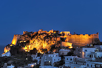 The castle of Chora in Kythera, Greece