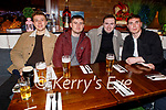 Scott O'Leary, Graham Riordan, Killian Commerford, Terry Healy and Dave McQuinn enjoying the evening in Benners Hotel on Saturday.