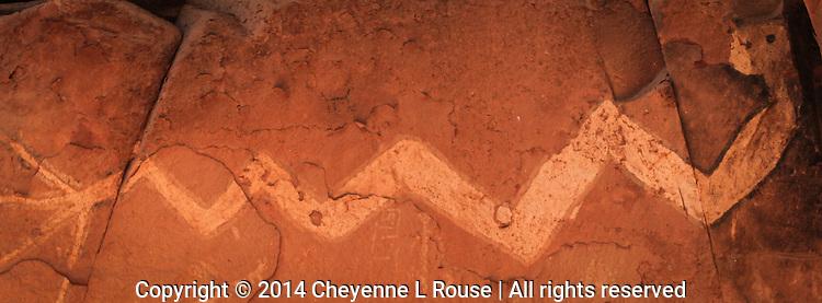 Reclining Rock Art  - Pictograph - Arizona - Sedona - Sinagua culture