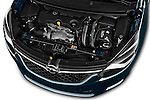 Car Stock 2017 Opel Zafira Innovation 5 Door Mini MPV Engine  high angle detail view