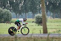 Hamza Mansouri (ALG) <br /> <br /> World Championships U23 Men - ITT <br /> Time Trial from Knokke-Heist to Bruges (30.3km)<br /> <br /> UCI Road World Championships - Flanders Belgium 2021<br /> <br /> ©kramon