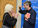"""MIAMI, FL - FEBRUARY 06: Radio host/author Diane Rehm talking to Mitchell Kaplan during Diane Rehm signing of her new book """"When My Time Comes"""" Presented in collaboration with Miami Book Fair and Books and Books at Miami Dade College-Wolfson Auditorium on February 6, 2020 in Miami, Florida.   ( Photo by Johnny Louis / jlnphotography.com )"""