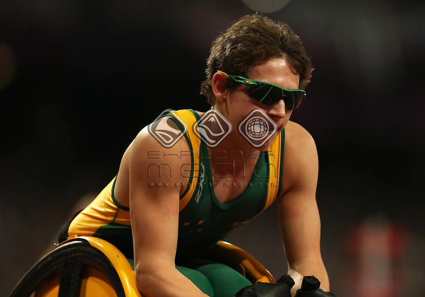 Rheed McCracken (AUS), Men's 200m - T34 Final.<br /> Athletics, Olympic Stadium (Tuesday 4th Sept)<br /> Paralympics - Summer / London 2012<br /> London England 29 Aug - 9 Sept <br /> © Sport the library/Joseph Johnson