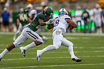 Kansas Jayhawks quarterback Miles Kendrick (8) in action during the game between the Kansas Jayhawks and the Baylor Bears at the McLane Stadium in Waco, Texas.