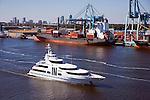 Galant Lady with JaxPort Tallyrand Terminal and Jacksonville Skyline