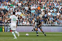 SAINT PAUL, MN - JUNE 23: Niko Hansen #11 of Minnesota United FC during a game between Austin FC and Minnesota United FC at Allianz Field on June 23, 2021 in Saint Paul, Minnesota.