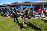 Daniel Hillier celebrates winning his semifinal against Charlie Smail. Final day of the Jennian Homes Charles Tour / Brian Green Property Group New Zealand Super 6s at Manawatu Golf Club in Palmerston North, New Zealand on Sunday, 8 March 2020. Photo: Dave Lintott / lintottphoto.co.nz