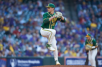 Baylor Bears starting pitcher Evan Godwin (27) in action against the LSU Tigers in game five of the 2020 Shriners Hospitals for Children College Classic at Minute Maid Park on February 29, 2020 in Houston, Texas. The Bears defeated the Tigers 6-4. (Brian Westerholt/Four Seam Images)