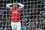 Lukas Podolski of Arsenal reacts during the English Premier League soccer match between Arsenal and Aston Villa at the Emirates Stadium, London, Britain, on 23 February 2013.THOMAS CAMPEAN/Pixel8000 Ltd...