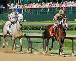 MAY 1, 2015: Lovely Maria, ridden by jockey Kerwin Clark, wins the Kentucky Oaks for owner Brereton Jones and trainer Larry Jones at Churchill Downs in Louisville, Kentucky. Sue Kawczynski/ESW/CSM