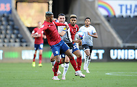 Huddersfield Town's Juninho Bacuna battles with Swansea City's Matt Grimes<br /> <br /> Photographer Ian Cook/CameraSport<br /> <br /> The EFL Sky Bet Championship - Swansea City v Huddersfield Town - Saturday 17th October 2020 - Liberty Stadium - Swansea<br /> <br /> World Copyright © 2020 CameraSport. All rights reserved. 43 Linden Ave. Countesthorpe. Leicester. England. LE8 5PG - Tel: +44 (0) 116 277 4147 - admin@camerasport.com - www.camerasport.com
