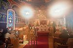 Christmas Liturgy service, at St. Sava Serbian Orthodox Church, Jackson, California. Christmas is observed on January 7th since the Julian Calendar is observed by the Orthodox faith