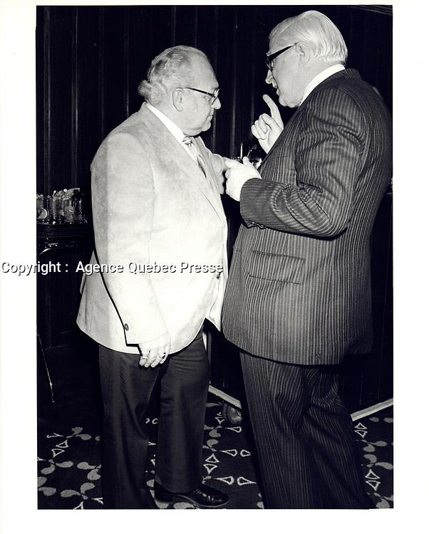 Le President de la FTQ Louis Laberge, le 15 Janvier 1980<br /> <br /> <br /> PHOTO : Agence Quebec Prese