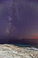 The Milky Way from a rocky location in Andros, Greece
