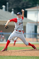 August 25 2008:  Pitcher Jacob Diekman of the Williamsport Crosscutters, Class-A affiliate of the Philadelphia Phillies, during a game at Dwyer Stadium in Batavia, NY.  Photo by:  Mike Janes/Four Seam Images