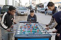 Tripoli, Libya - Boys Playing Fussball, Tripoli Medina